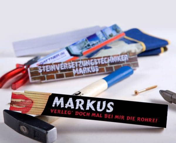 Lustiger Zollstock - Rohrverleger