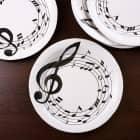 Tischdeko - 10 Pappteller im Musik-Design