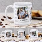 Tasse mit Ihren drei Lieblingsbildern und Wunschtexten