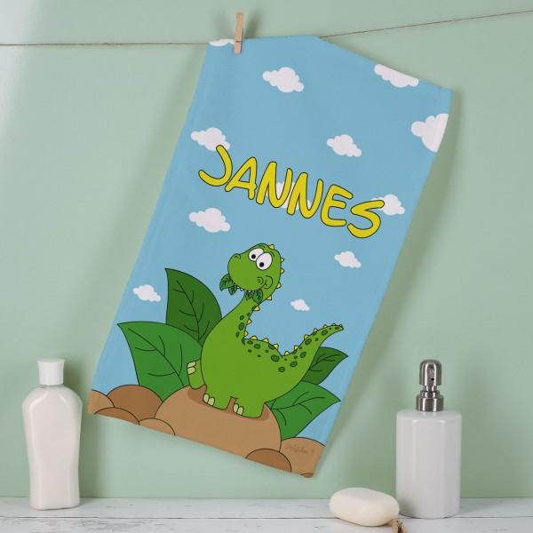 Handtuch in zwei Größen mit Dinomotiv