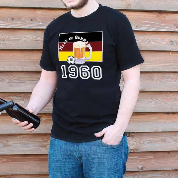 Herren T-Shirt Made in Germany mit Fußball und Geburtsjahr