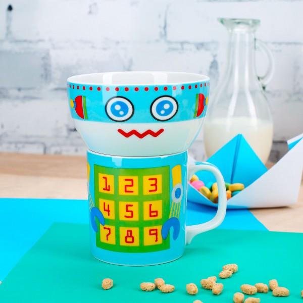 Rory Robot Porzellan Tasse Schüssel