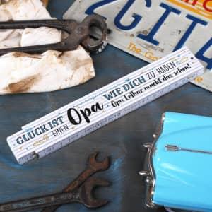 Personalisierter Zollstock für Opa