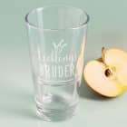 Lieblings... stapelbares Trinkglas mit Ihrem Wunschtext