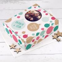Große Geschenkverpackung mit Ihrem Foto zu Weihnachten