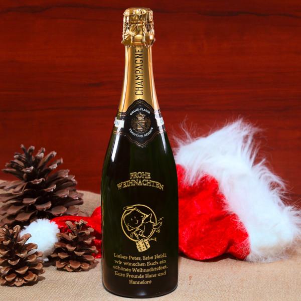 Champagnerflasche zu Weihnachten