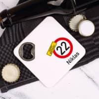 Happy Birthday - 2in1 Flaschenöffner mit Alter und Name