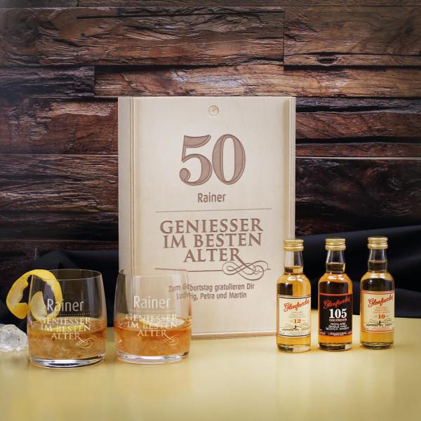 Whisky-Geschenkset Geniesser auch zum 50.Geburtstag
