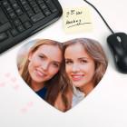 Herzförmiges Mousepad mit Ihrem Foto