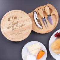 graviertes Käse-Holzbrett - Du bist die Beste - mit Ihrem Wunschtext