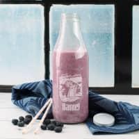Retro Glasflasche in 2 Größen - cool and refreshing