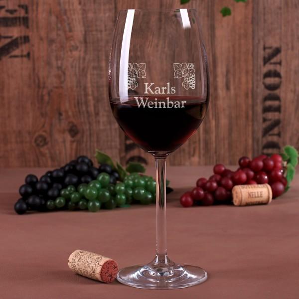 Weinglas Weinbar mit Namensgravur