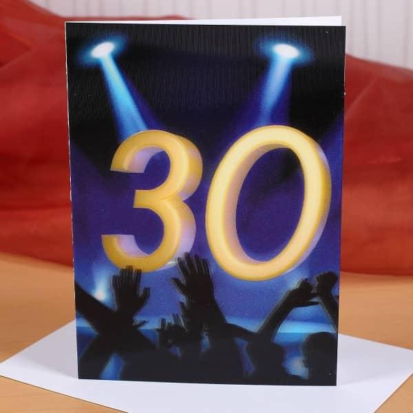 Wackelkarte zum 30. Geburtstag