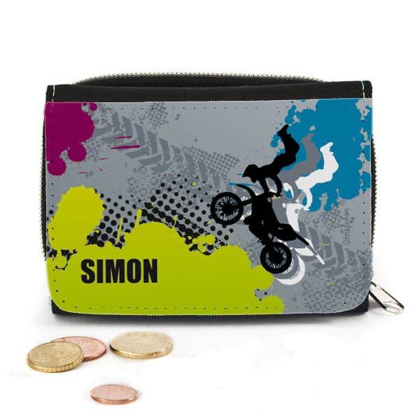 Geldbörse Motocross Fahrer