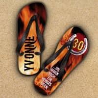 Sandalen Heißes Eisen zum Geburtstag