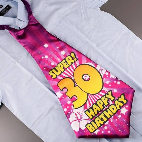 Party Krawatte zum 30. Geburtstag