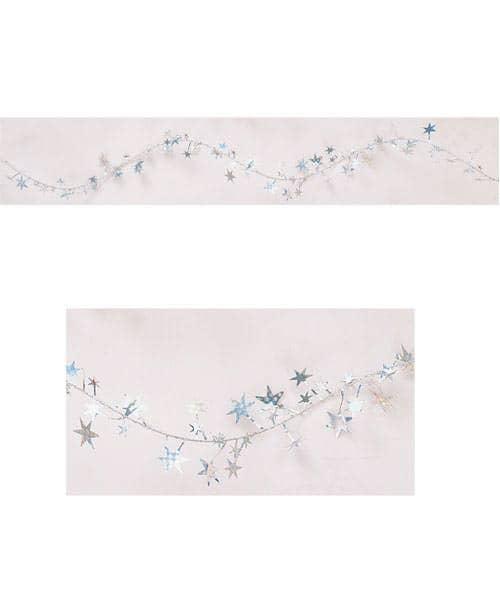 Girlande Silberne Sterne
