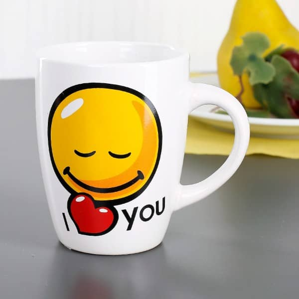 Emoticon-Tasse - I love you