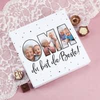 Lindt Pralinen mit 3 Fotos für die beste Oma