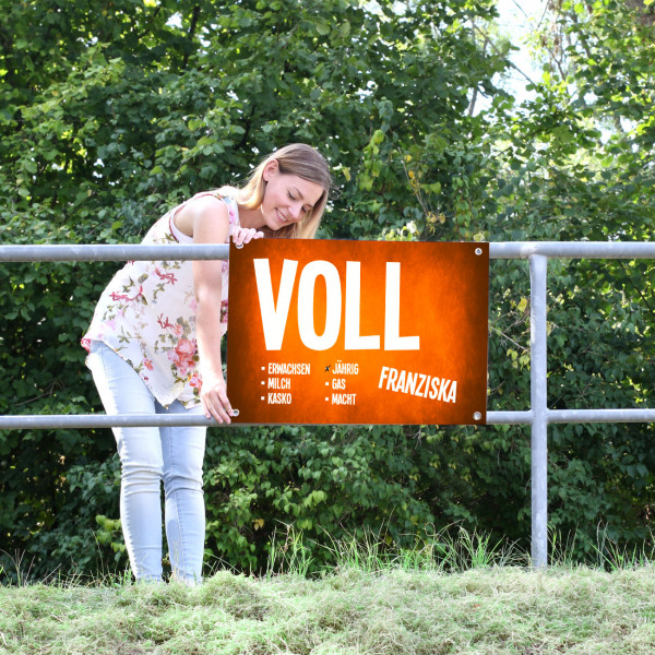Oranges Banner Volljährig