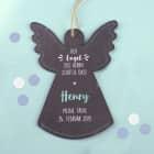 Der Engel des Herrn schütze dich - Schutzengel aus Schiefer für Jungen