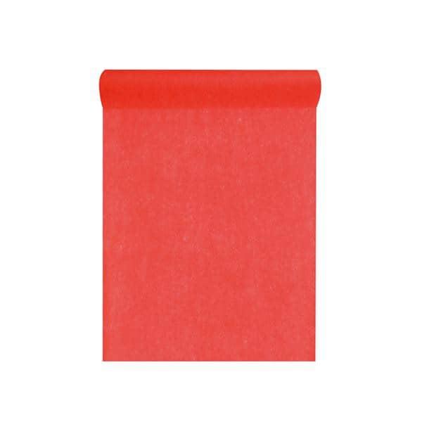Deko Tischläufer aus Vlies in Rot 1000 cm x 30 cm