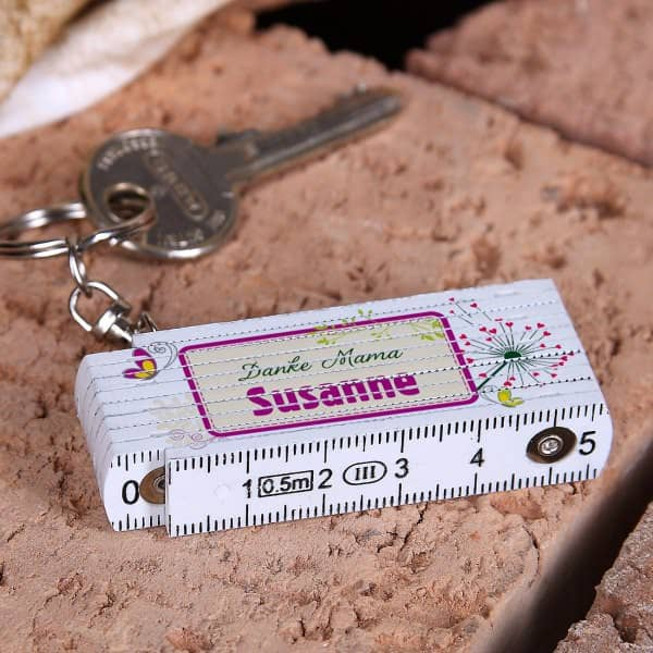 personalisierter Minizollstock für die Mama