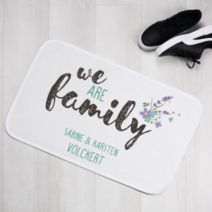 Teppich für Familien mit Name personalisiert