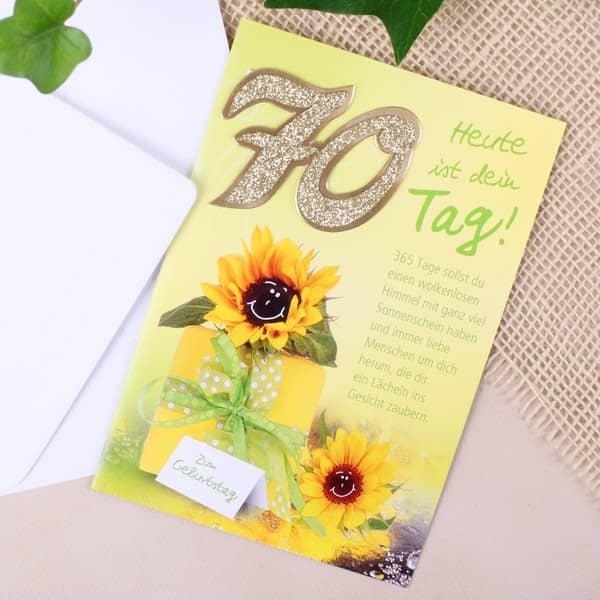 Karte zum 70. Geburtstag