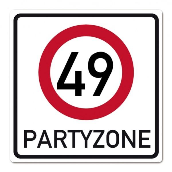 Riesiges PVC Schild zum 49. Geburtstag