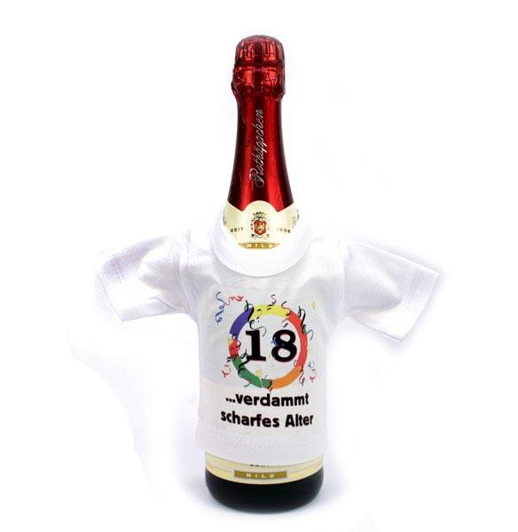 Mini T-shirt für Flaschen 30 - verdammt gutes Alter
