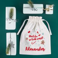 Geschenksack - Weil du so lieb warst! - zu Weihnachten mit Name