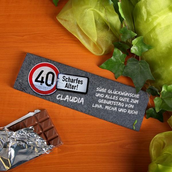 Riesige Schokolade zum Geburtstag Achtung Alter