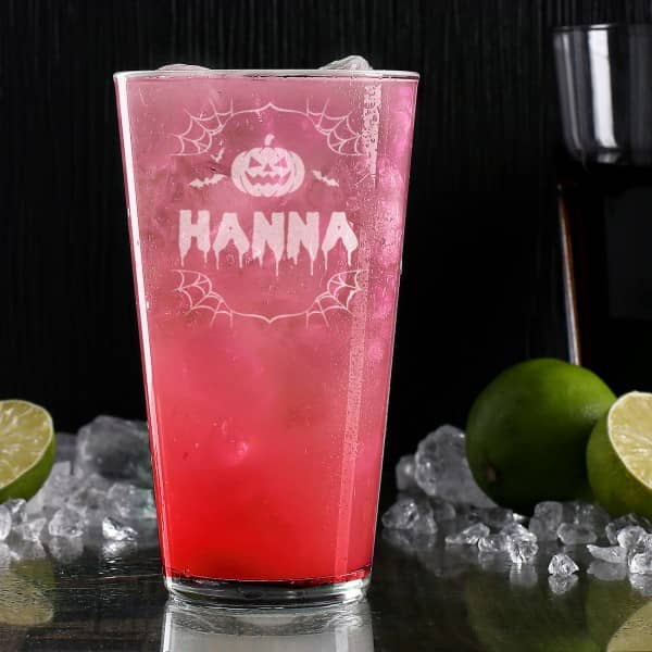 Halloween Party Mitbringsel Longdrink Glas mit Name