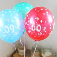 5 Luftballons zum 60. Geburtstag