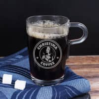 Graviertes Glas - Coffee