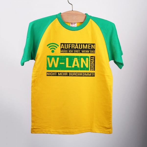 Aufräumen, wenn das W LAN Signal... T Shirt, Gr. 152