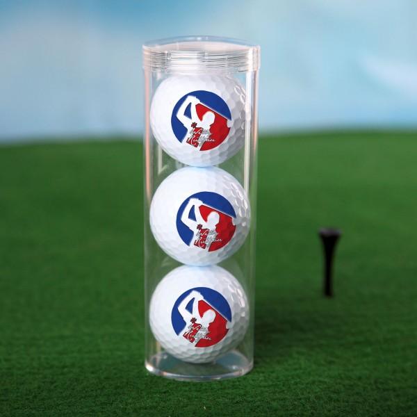 drei Golfbälle im Set