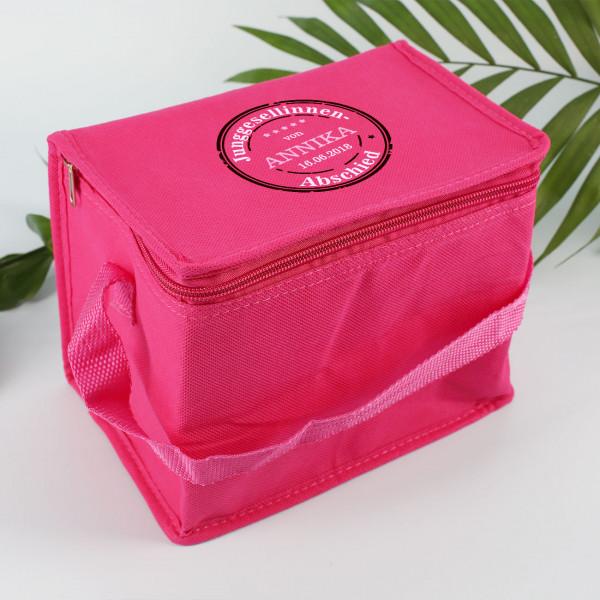 Pinke Kühltasche zum JGA