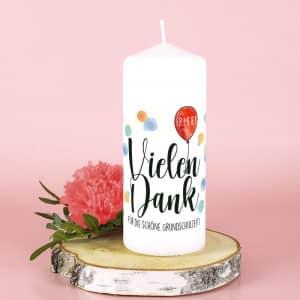 Kerze als Dankeschön Geschenk personalisiert