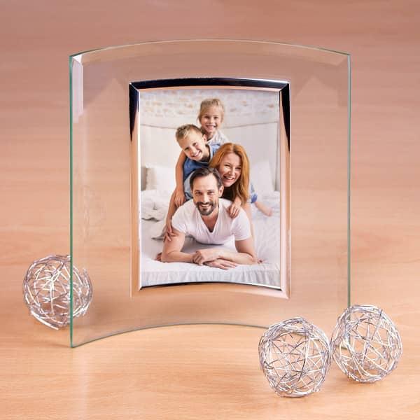Bilderrahmen in Hochformat aus Glas