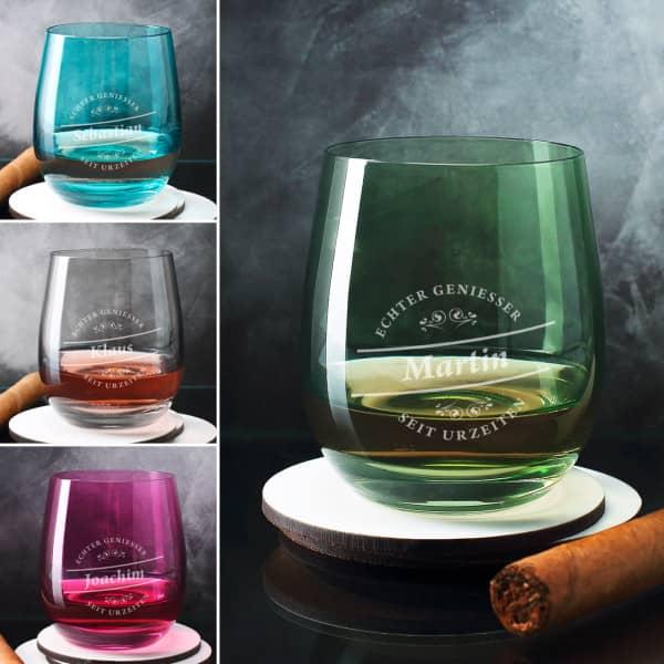 Whiskeyglas - Genießer - in vier verschiedenen Farben von Leonardo