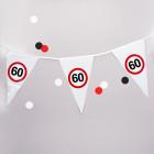 Wimpel-Kette mit 60er Verkehrszeichen