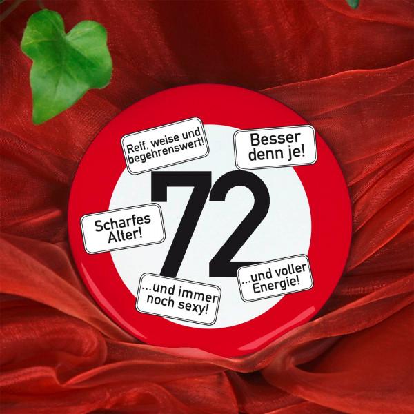 Button zum 72. Geburtstag