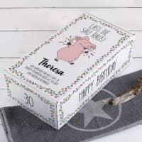 Lass die Sau raus! - Geschenkverpackung mit Partyschweinchen