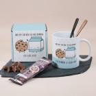 Geschenkset - Nur mit dir bin ich vollkommen - mit Tasse, Trinkschokolade und Geschenkverpackung