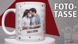 romantische und ausgefallene Foto-Tasse
