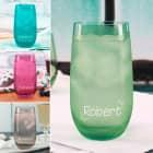 Trinkglas in vier Farben mit Wunschname