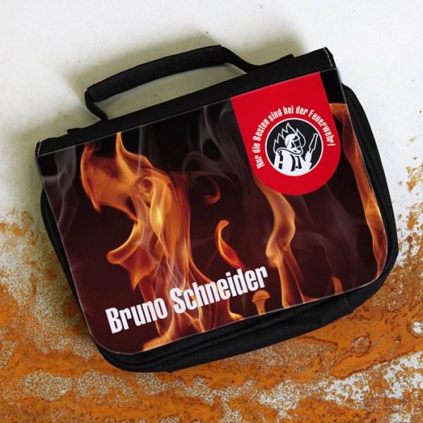 Kulturtasche mit Namen Feuerwehr