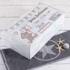 Geschenkverpackung zur Geburt mit Teddymotiv